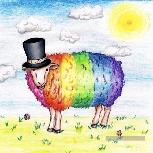 Mouton arc-en-ciel