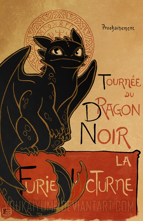 Chat noir Dragon noir